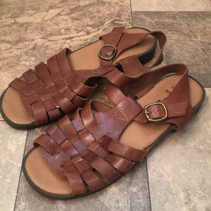 b352047fb94a1f Romano Shoes - Vintage Boho Brown Leather Huaraches Beach Sandals